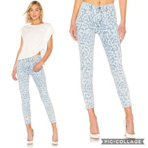 Current/Elliott Leopard High Waist Stiletto Jean